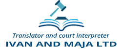 Translator and court interpreter for english and german Ivan and Maja ltd